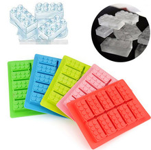 DIY Creative Building Blocks Mold Square Shape Silicone Ice Tray Fruit Ice Cube Maker Bar Kitchen Accessories 4Colors(China)