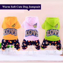 2017 Newest Autumn/Winter Dog Jumpsuits Cute Soft Leisure Clothes For Dogs Productos Para Mascotas The Four Feet Garments. WP382