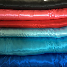 Free Ship 3Meter/Lot High Qaulity 50D*75D Polyester Satin Fabric Material Sew Dance Clothes Wedding Dress 150CM Black Mix Color