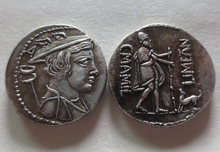 RM(02) Ulysses with his dog Argus. MAMILIUS Rare Roman republic coin denarius COPY COINS(China)