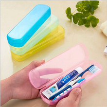 Best Price Modern Design Portable Candy Colors Hygienic Travel Camping Toothpaste Toothbrush Holder Protect Case Storage Box