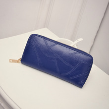 2016 New brand fashion colorful lady Candy Color purse clutch women wallets zipper long small bag PU leather dollar card holder(China)