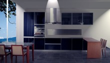 High gloss/lacquer kitchen cabinet mordern(LH-LA033)