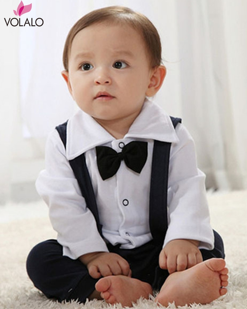 2016 New design High quality Baby boy Christening Gown white Rompers Newborn formal Baptism Rompers bebe Gentleman tie Rompers<br><br>Aliexpress
