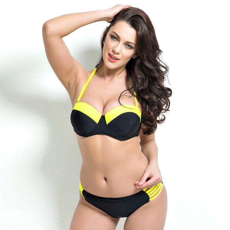 Swimwear Bikini 2017 plus size sexy swimwear Women swiming suit Push Up Bikini set lady bathing suit biquini bikini crochet<br><br>Aliexpress