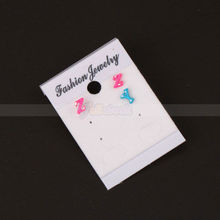 50X Fashion Jewelry Packaging Earring Hanging Display Plastic Cards 50x37mm Earring Holder Stand