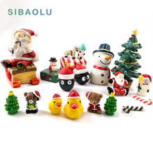 Christmas Snowman miniature Figurine home decoration fairy garden cartoon animals statue bonsai ornaments resin craft gift toy