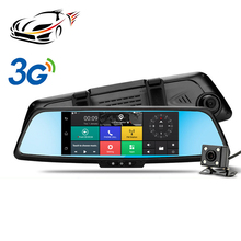 "MAUSTOR 3G&WIFI Android 5.0 GPS Navigation 7"" HD 1080P Touch Screen Bluetooth Rearview Mirror Video Recorder Registrar Dash Cam"