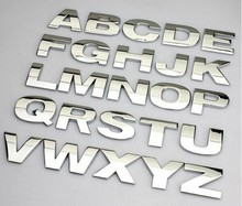 Top quality Personalized 3D metal English Letter emblem Digital Figure Number Chrome DIY Car word Badge Logo Automobile Stickers