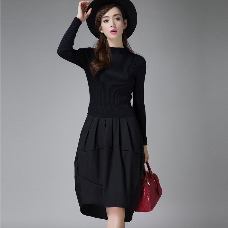 2016 Female Winter Dresses Korean Designer Casual High Street Fashionable Long Sleeve Sexy Wool knitted Sweater Dress Y1102-95FÎäåæäà è àêñåññóàðû<br><br>