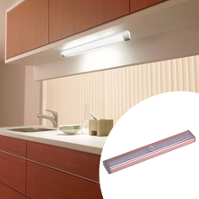 0406 Motion Body Sensor Night Light Cabinet LED Cabinet Lamp Light Wireless PIR AAA With Batteries Lights Rose Gold