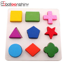 1 set Colorful Wooden Puzzles Baby Toy Learning Educational montessori Geometry Early Development Toy For 0-3Y Children Gift