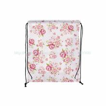 4Pcs Beautiful and Large Jacquard Print Custom Outdoor Beach Gym Swimming Clothing Shoes Towel Storage Bag Drawstring Backpack