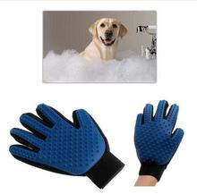 1pcs True Silicone pet brush Glove Touch Deshedding Gentle Efficient Pet Grooming Dogs Bath Pet cleaning Supplies