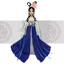 Cheap Toy Fashion Doll Beautiful Ancient Costume Dolls & Plastic Accessories For Girls Toys Kids Gifts bonecas jouet spielzeug(China)