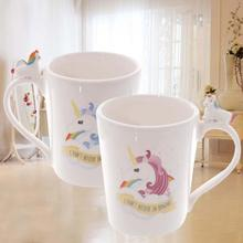 Rainbow Unicorn Color Changing White Ceramic Coffee Mug Kitchen Gift Temperature Sensitive Colour Change Milk Tea Water Cups V3(China)