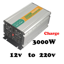 3000W 12v to 220v solar inverter without battery 3kw power inverter with charger  off grid 3000w inverter ac dc inverter