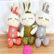 38CM Lovely Close Eyes Cloth Cartoon Rabbit Stuffed Animal Doll Baby Soft Plush Toys for kids Girls Birthday Gift  A70