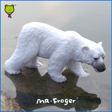 Mr.Froger Polar Bear Model Toy Wild Animals Toys Set Zoo modeling Solid Plastic PVC Dolls Children Science and Education White