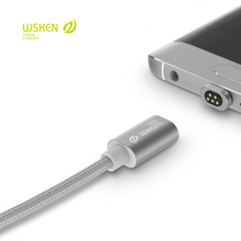 WSKEN 100% Original Metal Micro USB Magnetic Cable Data Sync Charger Cable for Samsung S7 S6 huawei xiaomi Powerline For LG htc
