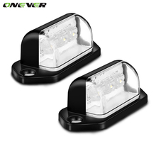 1 Pair 12V 3LEDs Licence Plate Light Tail Lamp Truck external lightsTrailer Lorry Auto Lights Cool White 6000k