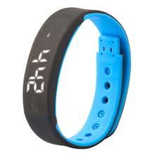 USB A7 Sport Bracelet Time Display Watch with Calorie Pedometer Temperature Sleep Monitor Waterproof Wristband Female Wholesale