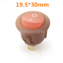 1pc Red Round Toggle Switch J196b with Light on it Two Files Three Lead Foot DIY Circuit Making Free Shipping RU Sell at a Loss(China)