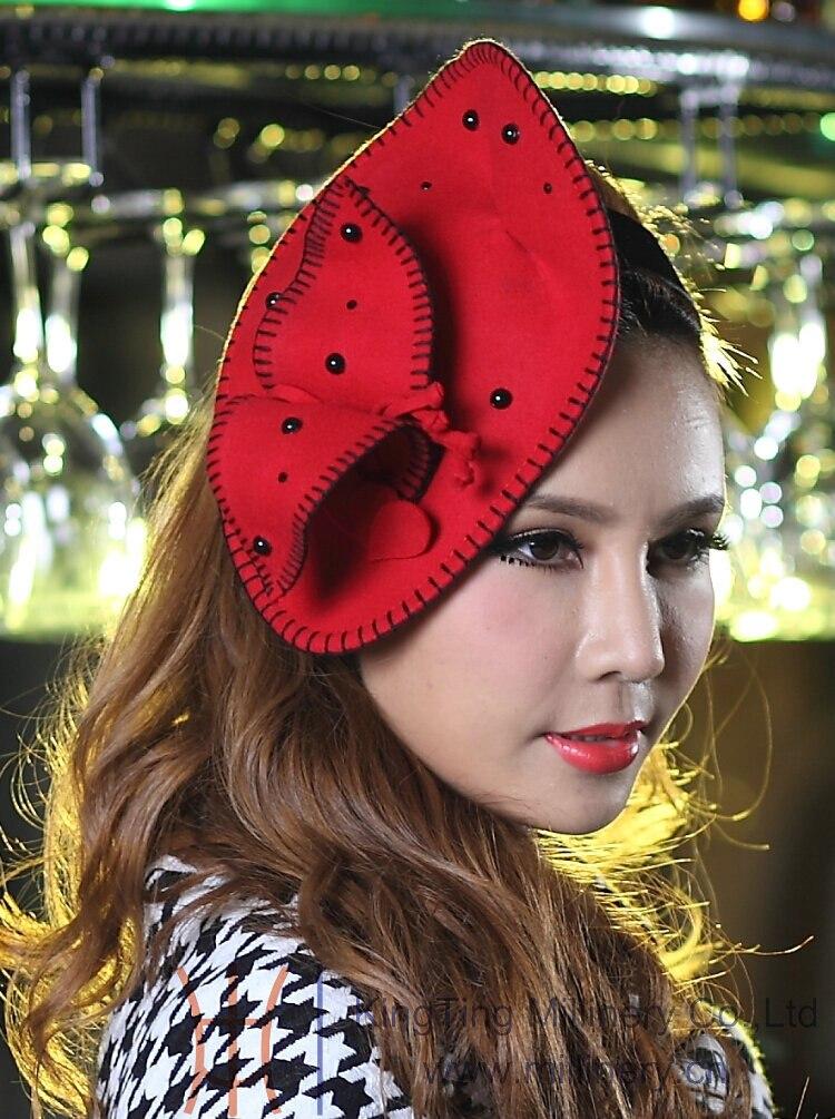 Free Shipping Hot Sale Fashion New Girl Fascinator Hat Wool Felt Fashion Women Hair Clips Accessories For Hair Hairband Headwear<br><br>Aliexpress
