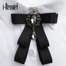 I-remiel 2017 Zinc Alloy Ribbon Trendy Real Special Offer Brooches For Broche Pin Manual Bow Brooch Neutral Corsage Joker Shirt(China)