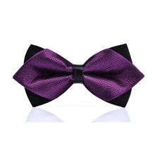 High-grade newest butterfly knot men's accessories bow tie black red cravat formal commercial suit wedding ceremony(China)