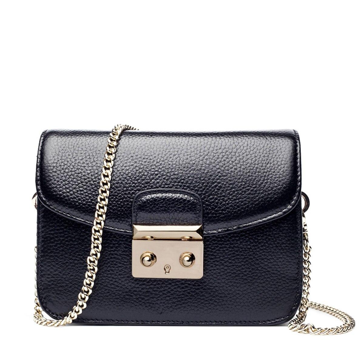2017 New  Women Messenger bag genuine leather clutch bag Chain stitching Panelled Patchwork ladies Lip skull crossbody bag<br><br>Aliexpress