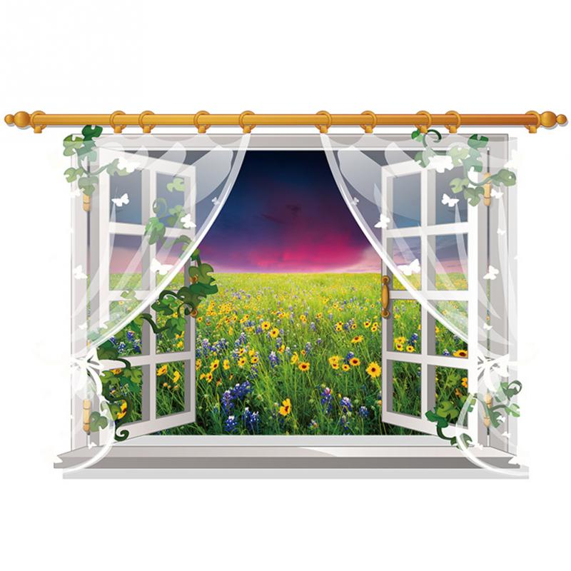 HTB1fTS3b4uTBuNkHFNRxh79qpXa2 - 3D Window View Nature Landscape Wall Sticker  For Living Room