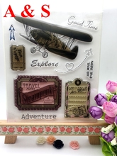 CLEAR STAMPS Travel Good Time Air Mail Par Avion Scrapbook Card album paper craft silicon rubber transparent stamp(China)