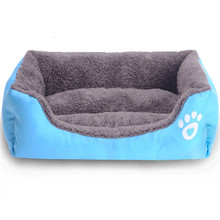 winter warm Pet Dog Cat Bed Puppy Cushion House Soft Warm Kennel Dog Mat Blanket cama de cachorro(China)
