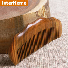 Top Grade Haircare Ebony Hair Combs Thicken Precious South American Green Macassar Wooden Exquisite Craft Sandalwood Fragrance