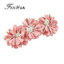 FANHUA New Style Hairwear Fashion Pink Blue Winered Flower Hairpins Hair Jewelry Hair Accessories Fashion Lady(China)