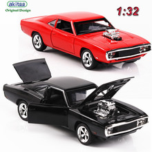 akitoo new Kindergarten (Bulk) Dodge Horse Horse Muscle Car Model 1:32 Hot Car Model Alloy Toy Simulation Back Power Light