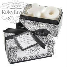 Free Shipping 100sets Hug and Kiss Scented Soap Favors XO Soap Wedding Favors Bridal Shower Ideas Cute and Nice Smell(set of 2)