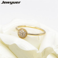 Mother's day collection ring Dazzling Droplet 14k Solid gold ring for women gift for mom Fine 925 silver Jewyuer Jewelry RIP0104(China)