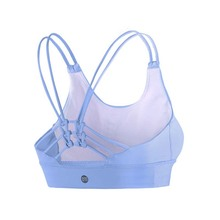Women Summer Hollow Out Sexy Bra yoga Quick Dry brassiere sport woman fitness fitness top sports bra G-393(China)