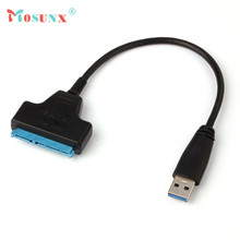 Hot-sale MOSUNX HDD Cable 25-55cm Super Speed USB 3.0 To SATA 22 Pin 2.5 Inch Hard Disk Driver SSD Adapter Cable Converter