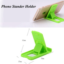 100pcs/lot Universal Mobile Phone Holder Mini Desk Station Plastic Stand Stander Holder For iPhone for Samsung Note with Opp Bag