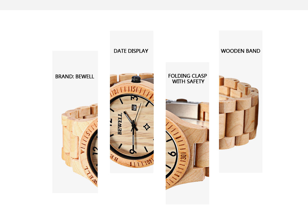 2017 BigBen Bewell Luxury Brand Wood Watch Men Analog Natural Quartz Movement Date Male Wristwatches Clock Relogio Masculino (11)