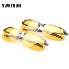 VWKTUUN Polarized Sunglasses Men Night Vision Goggles Men's Fishing Driving Glasses Male Oculos Anti-Glare Sun glasses For Men