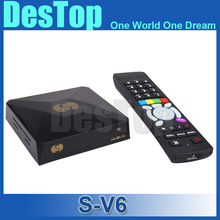 2015 lastest S V6 S V6 1080P HD PVR FTA Satellite Receiver,Support usb wifi, Youpron , Web tv. S-V6 20pcs/lot fedex free(China)