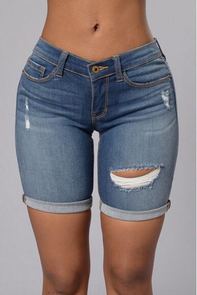 New 2017 Hot Summer Women Low Waist Hole Ripped American Apparel Shorts Jeans Boyfriend Skinny Pencil Denim Ripped Jeans ShortsОдежда и ак�е��уары<br><br><br>Aliexpress