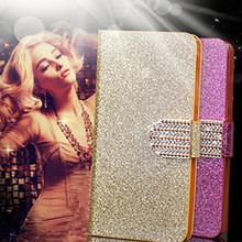 Original Bling Glitter Phone Case Cover Fundas for Apple iPhone 4 4S Flip Cell Phone Cases Wallet Back Covers Kickstand