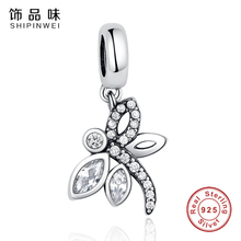 Shipinwei Fashion 925 Sterling Silver Vivid dragonfly Animal Charms Bead Fit Pandora Original Bracelet Jewelry for Women