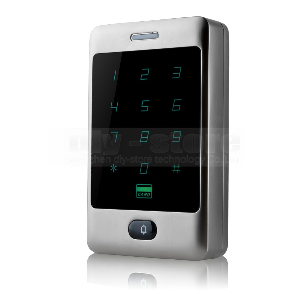 DIYSECUR Touch Button 125KHz Rfid Card Reader Door Access Controller System Password Keypad C30<br>