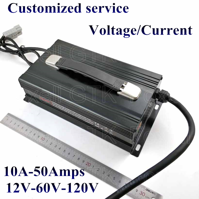 Chargers Hearty Customized 1200w Series 12v 50a 24v 30a 36v 20a 48v 20a 60v 15a 72v 12a Battery Charger For Lead Acid Lithium Or Lifepo4 Battery